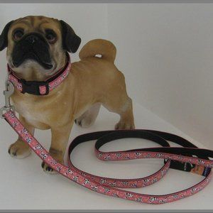 Bark Ave. Pink Zinnias Dog Leash